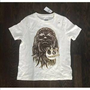NWT Gap Star Wars Chewbacca off white tee sz XS